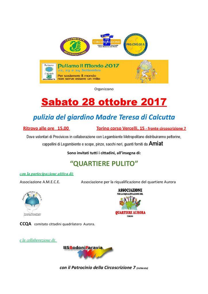 Quartiere Pulito -Ottobre 2017