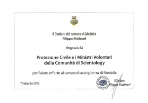 protezione civile scientology