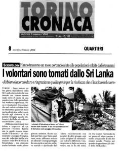 Torino Cronaca 2005-02-03 srilanka procivicos - protezione civile di scientology