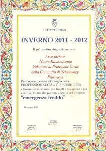riconoscimento - PROCIVICOS (volontari di protezione civile della comunità di scientology)